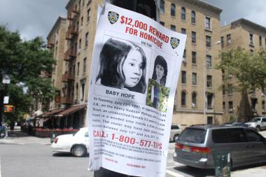 The NYPD is still looking for tips surrounding a child found stuffed inside a cooler in Inwood in 1991.