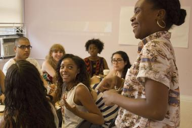 "Fourteen teenagers are spending four weeks this summer attending free arts performances across the five boroughs, then mapping and reviewing them online as part of ArtsConnection's ""Teen Reviewers and Critics Program,"" which launched the week of July 8, 2013."