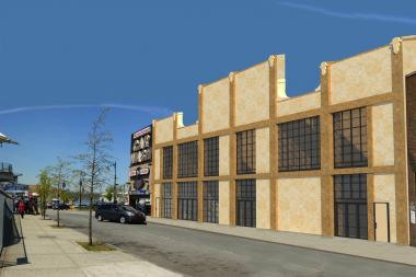 New renderings show the plans for the building, which will also host Antiques Garage.