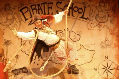 "David Engel will perform his one-man ""Pirate School!"" show aboard the Waterfront Barge Museum in Red Hook."