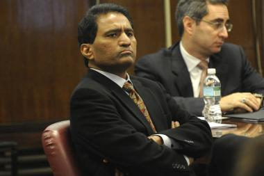 Reddy Kancharla, president of Testwell Laboratories listens as opening arguments are presented, Wednesday, Dec. 9, 2009, at State Supreme court, in New York. Attorneys for both sides presented opening argument to the jury, in the racketeering trial against the testing company. Prosecutors say Testwell doctored and sometimes simply made up concrete and steel test results for more than 100 projects. The defendants say the disputed results reflect mistakes, minor adjustments or common industry practices. (AP Photo/ Louis Lanzano)