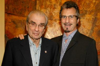 "Richard Adler (left) composed the lyrics and music to beloved Broadway musicals ""Damn Yankees"" and ""Pajama Game"" with Jerry Ross. He died in 2012. Adler's son Andrew (right) is in a dispute with the composer's fifth wife over paying estate taxes."