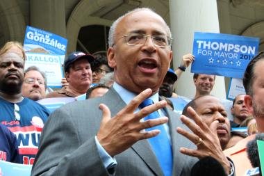 Democratic mayoral candidate Bill Thompson.