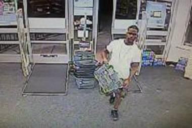 Police are looking for four suspects they said took products from two Walgreens on July 16.