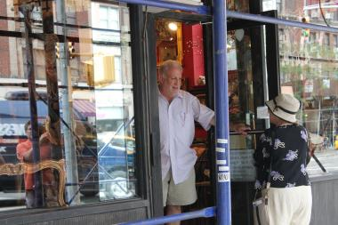 A local antique store on the Upper West Side was robbed at gunpoint, sources said.