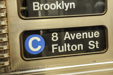 The C train in NYC on August 1, 2013