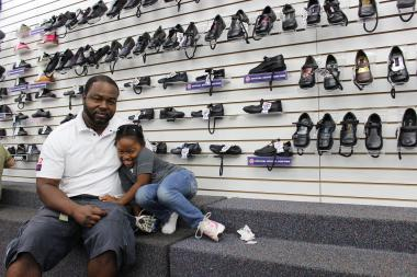 A number of stores downtown Jamaica caters to kids and families.