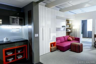 "The Museum of the City of New York  will present "" Living Large While Living Small ,"" a series of micro-unit housing events — which will include guests spending ""24-hour stints living in fully-built micro-unit in the Museum"" through Sept. 2 2013."