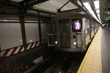7 Trains were running with delays in both directions Wednesday morning due to ongoing signal problems.
