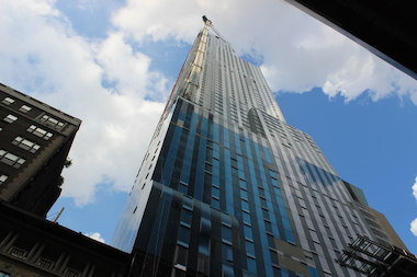 One57 is one of several luxury towers being constructed near Central Park.