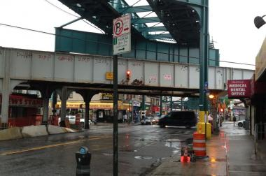 Elected officials said they hope to improve Jamaica Avenue by installing new lighting fixtures.