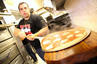 Rizzo's Pizza, the classic pizza store from Astoria, Queens has opened a Lower East Side outpost.