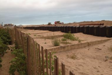 A photo of Rockaway Beach, where more than a mile of beach will be closed Labor Day weekend.