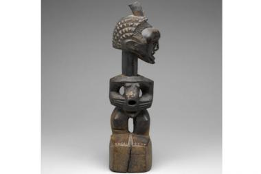 This wooden sculpture dates to the later 19th Century and was crafted by a member of the Songye tribe in what is now the Democratic Republic of Congo. The Brooklyn Museum missed out on acquiring the piece because it responded too late to a donor.