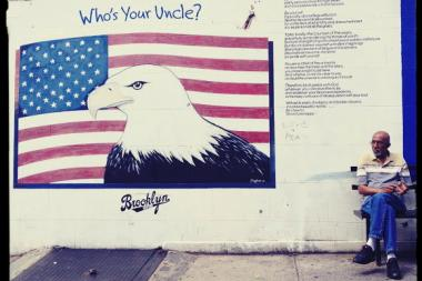 "The new store on Union Street and Fifth Avenue painted over the ""Who's Your Uncle"" mural."