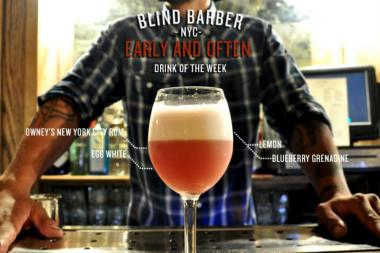 The Blind Barber is among 106 liquor license applicants this month in Williamsburg and Greenpoint.