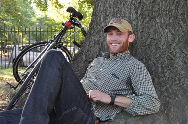 Dennis Tierney, 29, returned to Greenpoint in August from serving seven months with the military in Afghanistan.