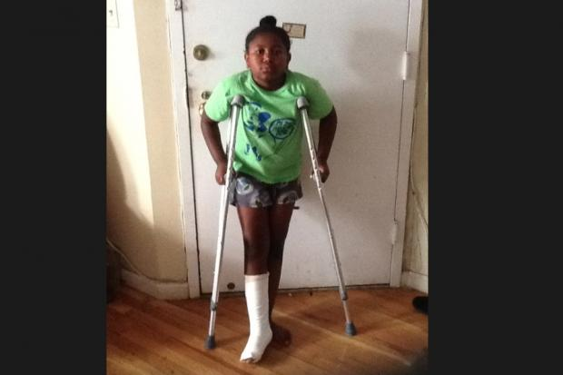 <p>Erin Frazier, 8, fractured her ankle on a swing at Slope Park playground on Sixth Avenue and 18th Street. The swing has been temporarily removed, a Parks Department spokeswoman said.</p>