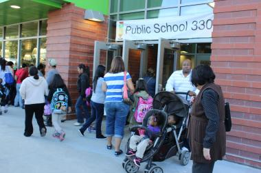 The new school building on Northern Boulevard will help overcrowding in the district.