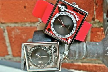 The men's and women's accessories store will sell watches with tiny turntables and boom boxes on their faces.