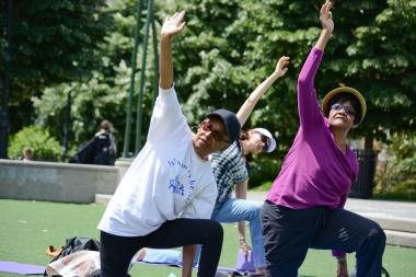 The City Park Foundation's Senior Fitness Program, which offers free exercise classes to New Yorkers 60-years-old and above, begins Sept. 23 2013.