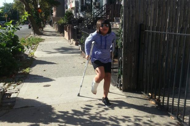 <p>Jaqueline Posadas, 8, fractured her ankle on a swing at Slope Park playground in the South Slope. Jaqueline is a third grader at P.S. 10.</p>