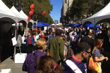 Twitter was lit up with photos from the Brooklyn Book Festival on Sunday.