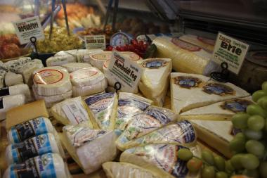 Kashkaval's cheeses on display at its longtime Ninth Avenue home.
