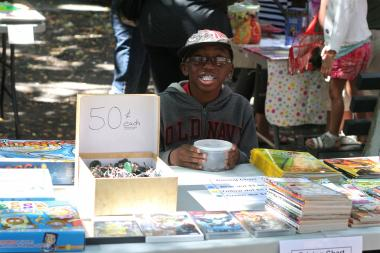 Children will donate to charity during a flea market in Kew Gardens this Sunday.
