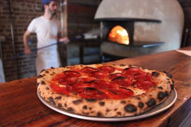 The artisanal pizzeria, which opened in June, will be giving out free food Sunday, Sept. 8.