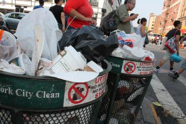 The New East Harlem Merchants Association is raising money to hire homeless men to clean the busy, chronically dirty area from Fifth Avenue to Second Avenue between 124th and 126th streets.