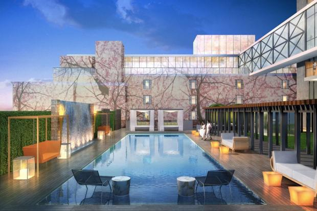 Lic Hotel 39 S 10 Million Expansion Includes Pool That Turns Into Ice Rink Long Island City