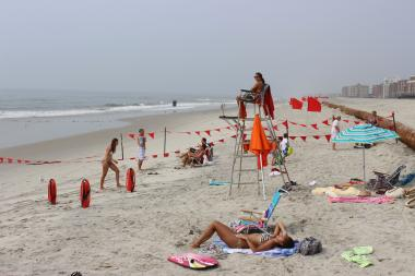 Rockaway Beach on Labor Day weekend.
