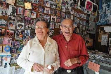 Shiree Records has been open 32 years on Grand Street.
