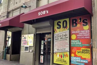 Four men were shot inside Hudson Square's SOB's nightclub after a dispute, cops said.