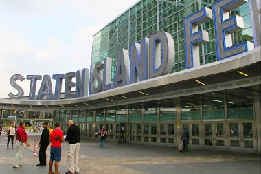 A man was punched in the face while riding his bike toward the Staten Island Ferry Terminal on Aug. 30, police said.