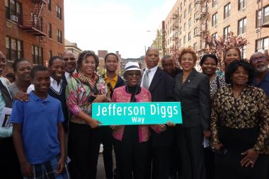 Street co-naming ceremony for Jefferson Diggs