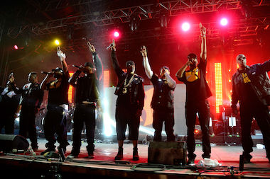 The members of Wu-Tang Clan performed at the Coachella Music Festival in 2013.