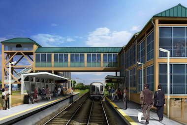 The station, slated to open in 2015, will replace the Atlantic and Nassau stations on the Staten Island Railway.
