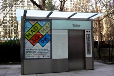 DOT proposed an automated public toilet for Cadman Park Plaza.