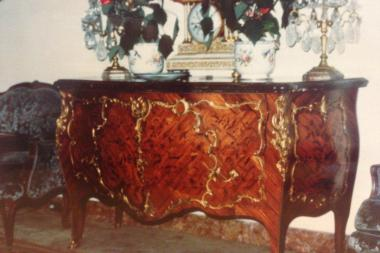 Josef Meyers is accused of stealing this 18th Century Louis XV Ormolu-mounted commode from Barbara Rockefeller's Upper East Side mansion.