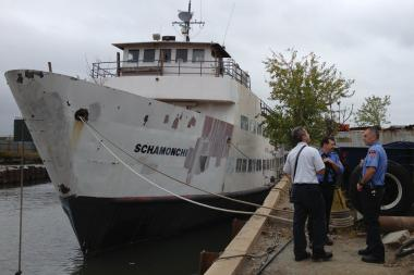 The ferry at 190 Morgan Avenue was vacated Friday, FDNY said.