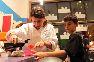 The school offers cooking classes to kids as young as 4 years old.