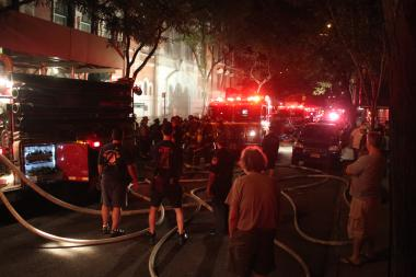 A fire erupted in the St. Nicholas Russian Orthodox Cathedral on East 97th Street just after midnight Friday, the FDNY said.