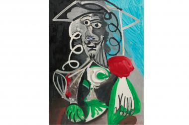 """Buste d'homme,"" a painting by Pablo Picasso, sold at a Sotheby's art sale for nearly $9.7 million in May. The daughter of late Rolex executive Patrick Heiniger says his girlfriend at the time of his death took a Picasso painting by the same name from his home in April."