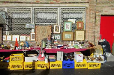 A vendor at the former flea market outside P.S. 321 in Park Slope. After the space was taken over by Brooklyn Flea, many of the old vendors moved to a new spot on Fourth Avenue and 20th Street.