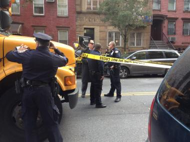 A school bus struck a woman in Williamsburg.