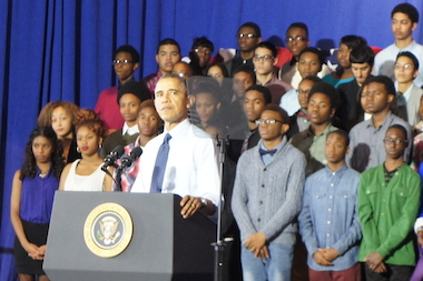 "P-Tech is ""proof of what can be accomplished"" with education reform, the president said."