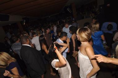 The dance floor at Tenjune, where police said a 23-year-old man was pickpocketed by his dancing partner.