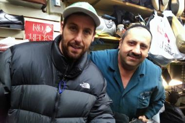 "Adam Sandler scoped out Eric Shoe Repair on Grand Street for the film ""The Cobbler."""